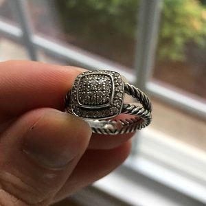 David Yurman Petite Pavé Diamond Albion Ring